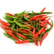 Red chili peppers isolated — Stock Photo #1938953