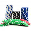 Casino chips isolated — Stock Photo