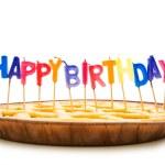 Happy birthday candles — Stock Photo #1939525