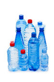 Bottles of water isolated — Stock fotografie