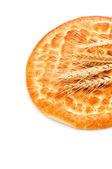 パンと小麦の耳のクローズ アップ — ストック写真