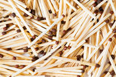 Group of wooden matches arranged — Stock Photo