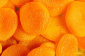 Dry apricots arranged — Stock Photo