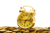 Time is money concept with clock — Stock Photo