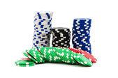 Casinofiches geïsoleerd — Stockfoto