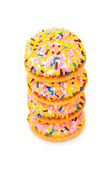 Cup cake stacks isolated — Stock Photo