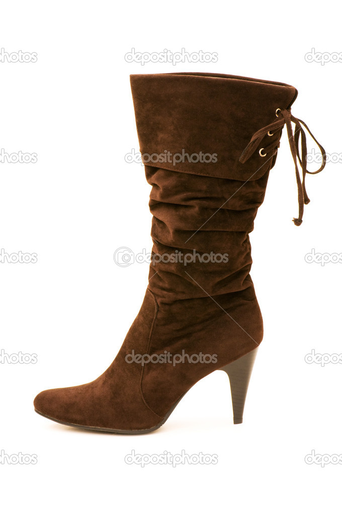 Brown boots isolated on the white background — Stock Photo #1936617
