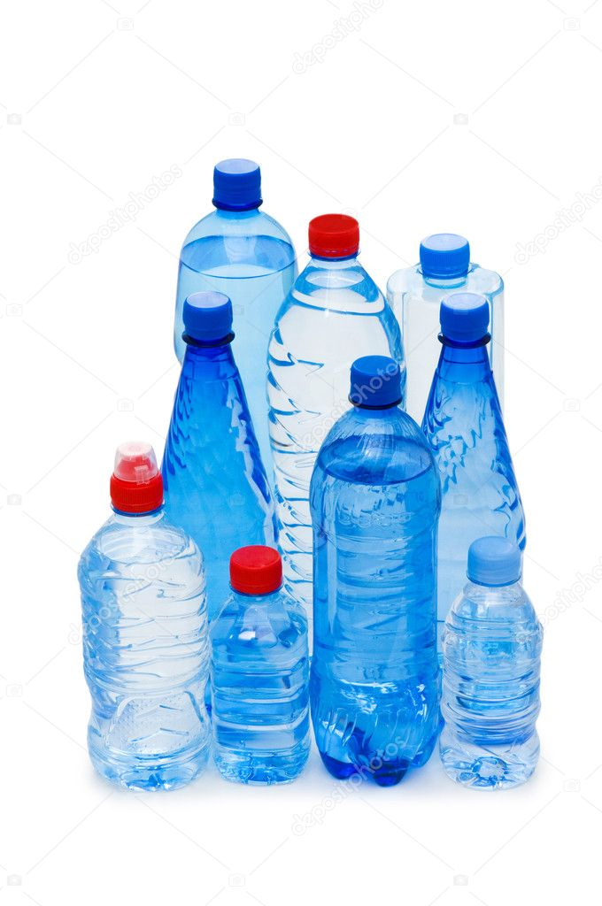 Bottles of water isolated on the white   #1936641