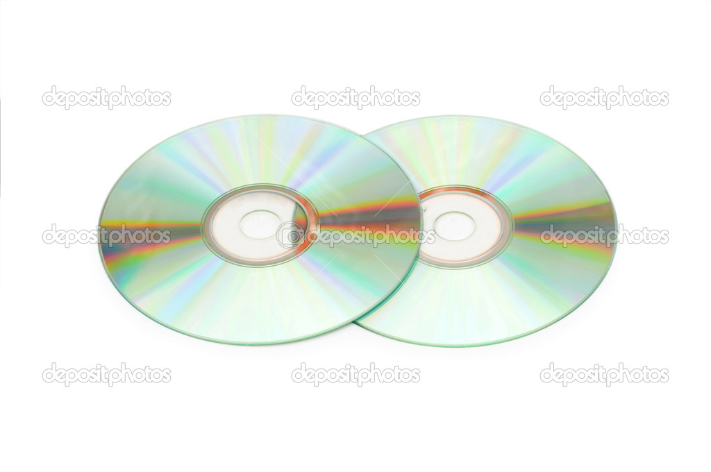 Two cd discs isolated on the whte — Stock Photo #1939024