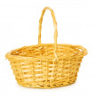 Woven basket isolated on the white — Stock Photo #1941941