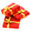 Stock Photo: Gift boxes isolated on the white