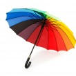 Colourful umbrella isolated on the white — Stock Photo #1942384