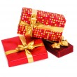 Gift box isolated on the white - Stok fotoğraf