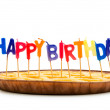 Stock Photo: Happy birthday candles