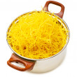Spaghetti pot isolated on the white — Stock Photo