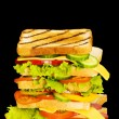 Royalty-Free Stock Photo: Sandwich isolated on the black