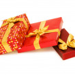 Gift boxes isolated on the white - ストック写真