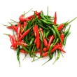 Red chili peppers isolated on the white — Stock Photo #1944856