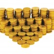 Stack of coins isolated on the white — Stock Photo