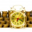 Time is money concept with clock — Stock Photo #1945278