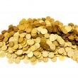 堆金硬币隔离 — 图库照片