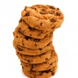 Chocolate cookies isolated on the white — Stock Photo