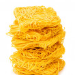 Stock Photo: Stack of spaghetti isolated