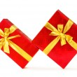 Gift boxes isolated on the white - Stok fotoğraf