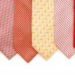 Stock Photo: Selection of ties isolated