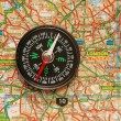 Compass over the map of UK — Stock Photo #1949818