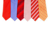 Selection of ties isolated — Stock Photo