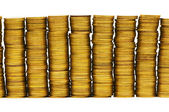 Stack of coins isolated — Stock Photo