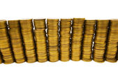 Stack av mynt isolerade — Stockfoto