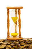 Time is money concept - hourglass — Stock Photo