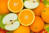 Close up of half cut oranges — Stock Photo