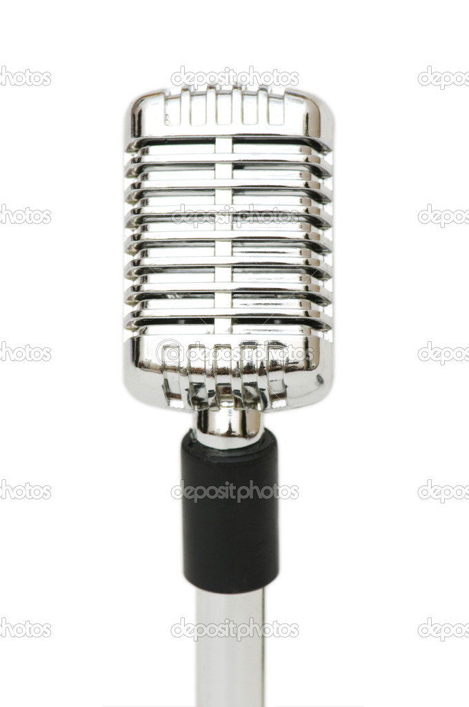 Vintage microphone isolated on the white background — Stock Photo #1942559