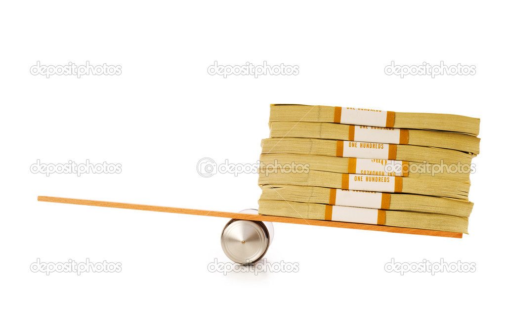 Financial concept - balancing economy with dollars — Stock Photo #1944512