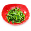 Green chili peppers isolated — Stock Photo #1950804