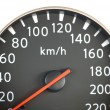 Close up of car speedometer — Stock Photo