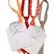 Shirt and tie isolated on the white — Stock Photo