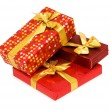 Gift boxes isolated on the white - Foto Stock