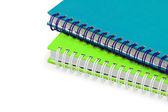 Zblízka twol notebooků izolované — Stock fotografie