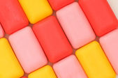 Colourfull soap bars — Stock Photo