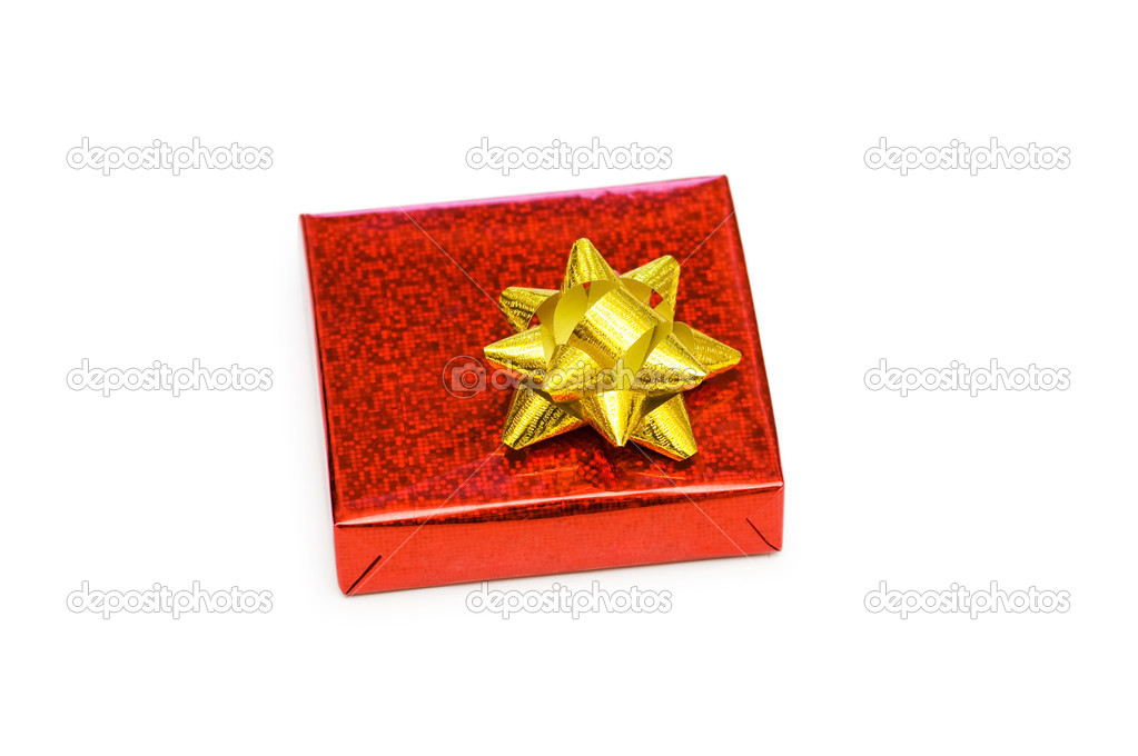 Gift box isolated on the white background  Stock Photo #1950566