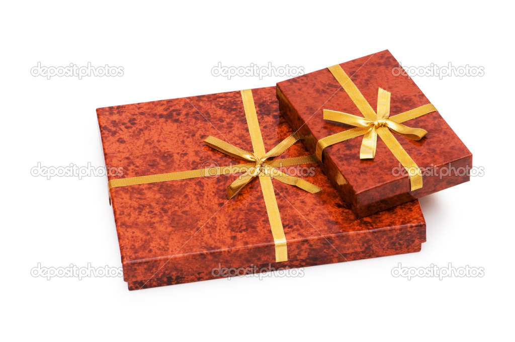 Gift box isolated on the white background  Stock Photo #1950675