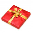 Red gift box isolated — Stock Photo