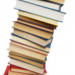 Stack of books isolated on the white — Stock Photo