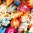 Colourful christmas decoration — Stock fotografie