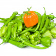 Stock Photo: Three bell peppers isolated