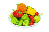 Bell peppers isolated on the white — Stock Photo